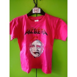 Dětské triko BABA, barva fuchsia